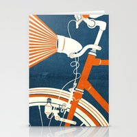 bicycle Stationery Cards featuring Bicycle Light by Fernando Vieira