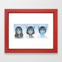 See Hear Speak Framed Art Print