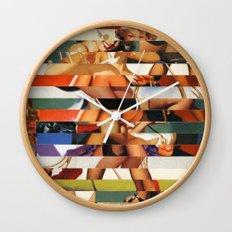 Glitch Pin-Up Redux: Peyton Wall Clock