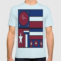 'Merica! Mens Fitted Tee Light Blue SMALL