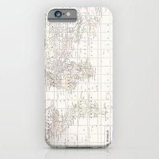Vintage Cream and White Slim Case iPhone 6s