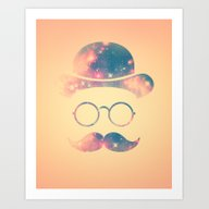 Retro Face With Moustach… Art Print
