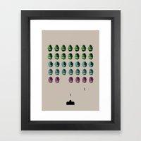 Faceinvaders Framed Art Print