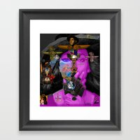 BECAUSE OF YOU Framed Art Print