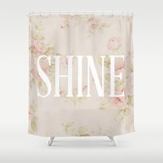 Shine Floral  Shower Curtain