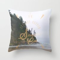 The Smuggler's Cove Throw Pillow