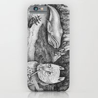 iPhone & iPod Case featuring The Whale, The Castle & The Smoking Cat by Ulrika Kestere