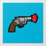 Canvas Print featuring Pop Icon - Banksy by Greg-guillemin