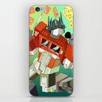 Optimus Prime DARE to keep your dreams alive! iPhone & iPod Skin