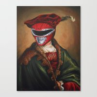 Portrait Of A Stately Ra… Canvas Print