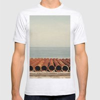 Ocean Mens Fitted Tee Ash Grey SMALL