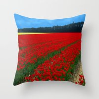 'Off With Their Heads!' Throw Pillow