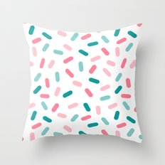 Head Rush - memphis throwback hipster style dot pill 1980s neon pastel palm springs socal surfer Throw Pillow