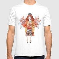 Alice Wonders Mens Fitted Tee White SMALL