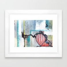 A Contrast Of Currents Framed Art Print