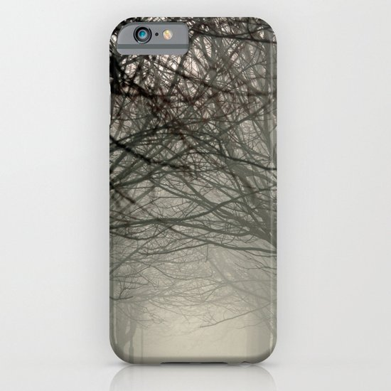 Branches meeting in the fog iPhone & iPod Case