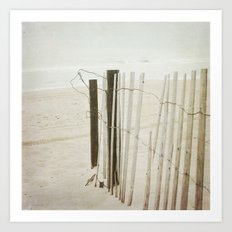 Ocean Fence Art Print