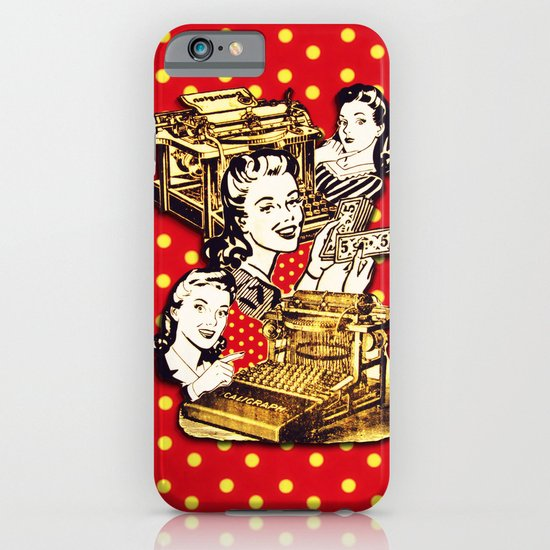 Quirky Office Gals iPhone & iPod Case