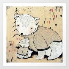 Mama Bear, Baby Bear Art Print