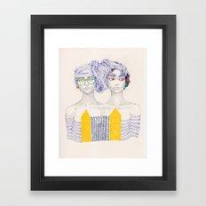 Hair Play 02 Framed Art Print