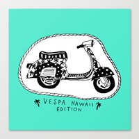 Vespa Hawaii Edition. Canvas Print