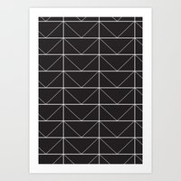 Geometric Lines Black & … Art Print