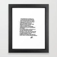 Poem Framed Art Print