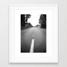 down the road.  Framed Art Print