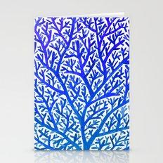 Fan Coral – Blue Ombré Stationery Cards