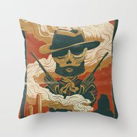Train to Yuma Throw Pillow