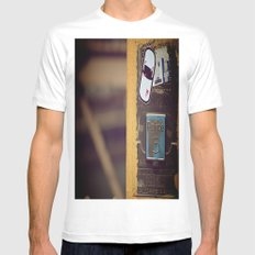 This Is Not An Emergency White SMALL Mens Fitted Tee