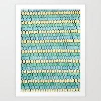 Watercolour Honeycomb Tank Top Art Print