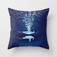 Flying The Dream Throw Pillow