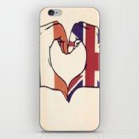 One Direction Inspired UK/Irish Love Heart iPhone & iPod Skin
