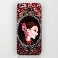 Dame Kardinal Fig2 iPhone & iPod Skin