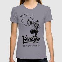 VERTIGO - LUIGI'S MANSION Womens Fitted Tee Slate SMALL