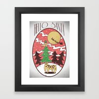 Hello Santa Framed Art Print