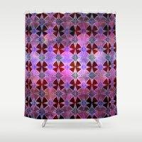 Bohemian Night Sky -Purple Shower Curtain