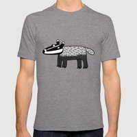 Badger Mens Fitted Tee Tri-Grey SMALL