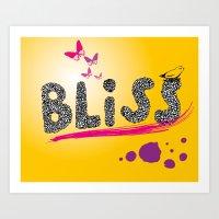 bliss. Art Print