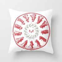 Dancing with Hannibal Throw Pillow