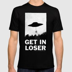 Get In Loser Mens Fitted Tee Black SMALL