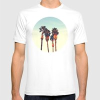 California Sunset Mens Fitted Tee White SMALL