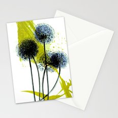 blue dandelion on abstract background Stationery Cards