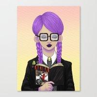 Girls Read Comics Too, A… Canvas Print