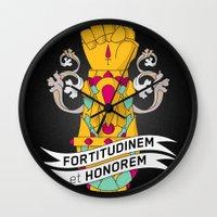Fortitudinem Et Honorem Wall Clock