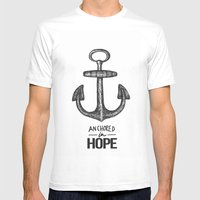 Anchored Mens Fitted Tee White SMALL