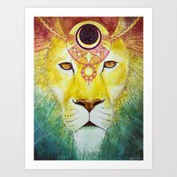 Lion Wears The Crown Art Print