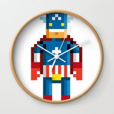 Pixelman America Wall Clock