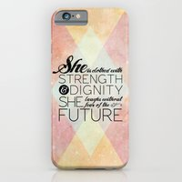 iPhone & iPod Case featuring Proverbs 31 She is...  by Pocket Fuel